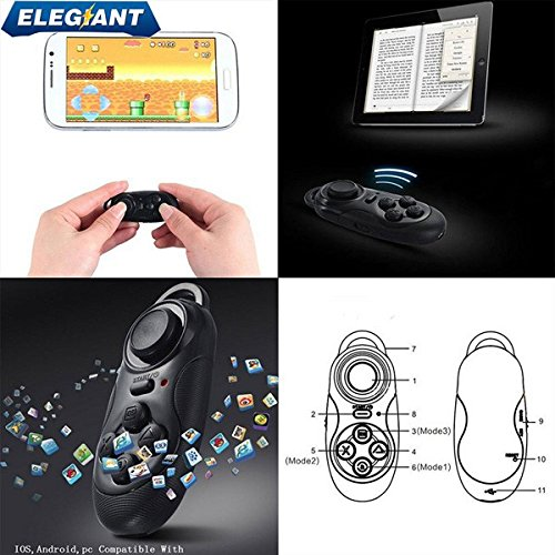elegiant mini drahtlose bluetooth gamepad fernbedinung. Black Bedroom Furniture Sets. Home Design Ideas