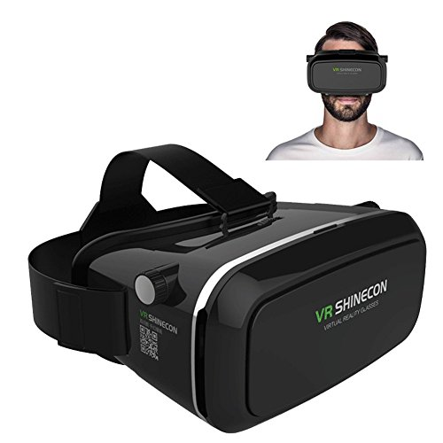 Timesun-Universal-3D-VR-Einstellbar-Virtual-Reality-Brille-Karton-Video-Movie-Game-Brille-virtuelle-Realitt-Glasses-fr-35-6-Android-IOS-Iphone-Samsung-Galaxy-Mega-2Galaxy-Note-4Galaxy-Note-3Galaxy-S6--0